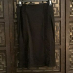 Black Pencil Skirt with Laces